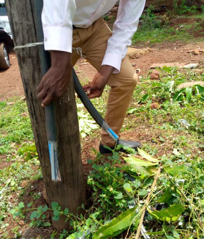 Slashed distribution cables at Mayemi